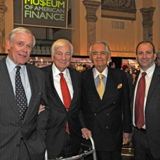 Bill Donaldson, John Whitehead, Pete Peterson and David Cowen at the 2011 Gala