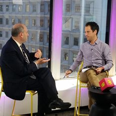 Cheddar Media Founder & CEO Jon Steinberg interviews David Cowen for the launch of the