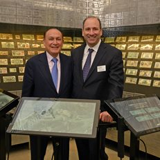 David Cowen and MoAF Trustee Mark Shenkman at the opening of the