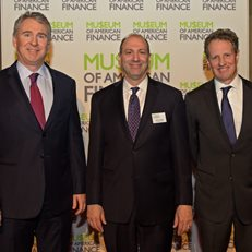 David Cowen with 2018 Gala honorees Ken Griffin and Tim Geithner