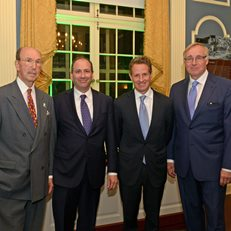 MoAF Founder John Herzog, Tim Geithner, David Cowen and MoAF Trustee Charles Wait