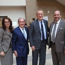 Fordham University Gabelli School Dean Donna Rapaccioli, MoAF Trustee Mark Shenkman, legendary investor Howard Marks and David Cowen