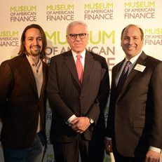 Lin-Manuel Miranda, David Rubenstein and David Cowen at the 2015 Gala