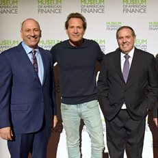 MoAF President David Cowen, PayPal CEO Dan Schulman, Andover National Chairman Peter Cohen and MoAF Chairman Dick Sylla at the 2020 MoAF Gala