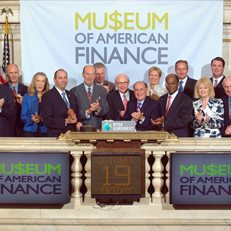 MoAF Trustees ring the NYSE closing bell in honor of the Museum's 25th anniversary