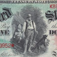 $5 Legal Tender Note, 1869