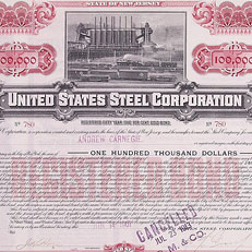 Carnegie Morgan US Steel: $100,000 bond