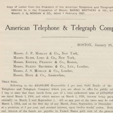 American Telephone & Telegraph Company prospectus, 1907. Credit: The Baring Archive