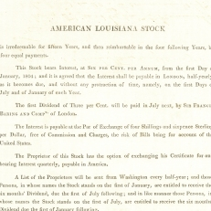 Louisiana Purchase prospectus, 1804. Credit: The Baring Archive
