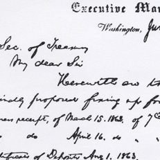 Lincoln Memo to Chase