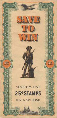 War Bond Stamp Book From World War Ii Museum Of American