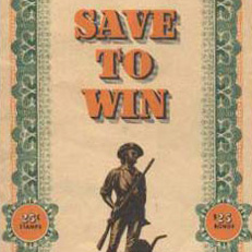 War Bond Stamp Book from World War II