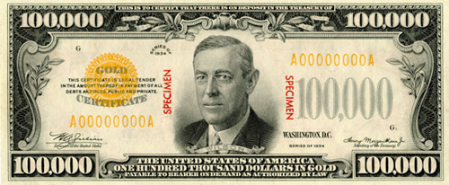 100 000 Bill Museum Of American Finance