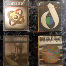 Collection of Fortune magazines