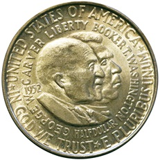 George Washington Carver and Booker T. Washington Half Dollar (obverse)