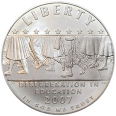 Little Rock Nine Coin (obverse)
