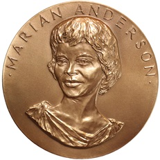Marian Anderson Bronze Medal (obverse)