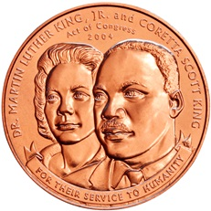 Martin Luther King, Jr. and Coretta Scott King Bronze Medal (obverse)