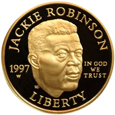 Jackie Robinson Gold Coin (Obverse)