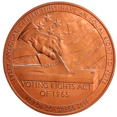 Selma to Montgomery Marches Bronze Medal (reverse)