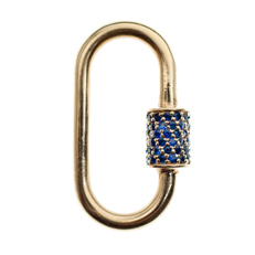 Medium lock in yellow gold with 78 sapphires, courtesy of Marla Aaron Jewelry
