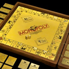 18-karat gold and jewel encrusted Monopoly set by Sidney Mobell, courtesy of the Smithsonian National Museum of Natural History