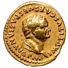 Gold coin from a rare 12 Caesars collection, courtesy of Thomas Tesoriero