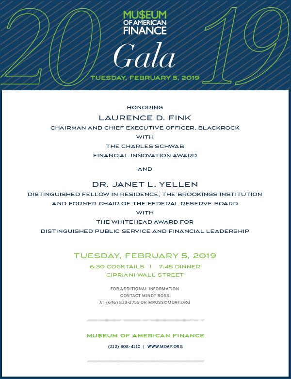 2019 MoAF Gala Invitation