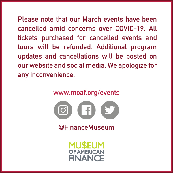 March Programs Cancelled