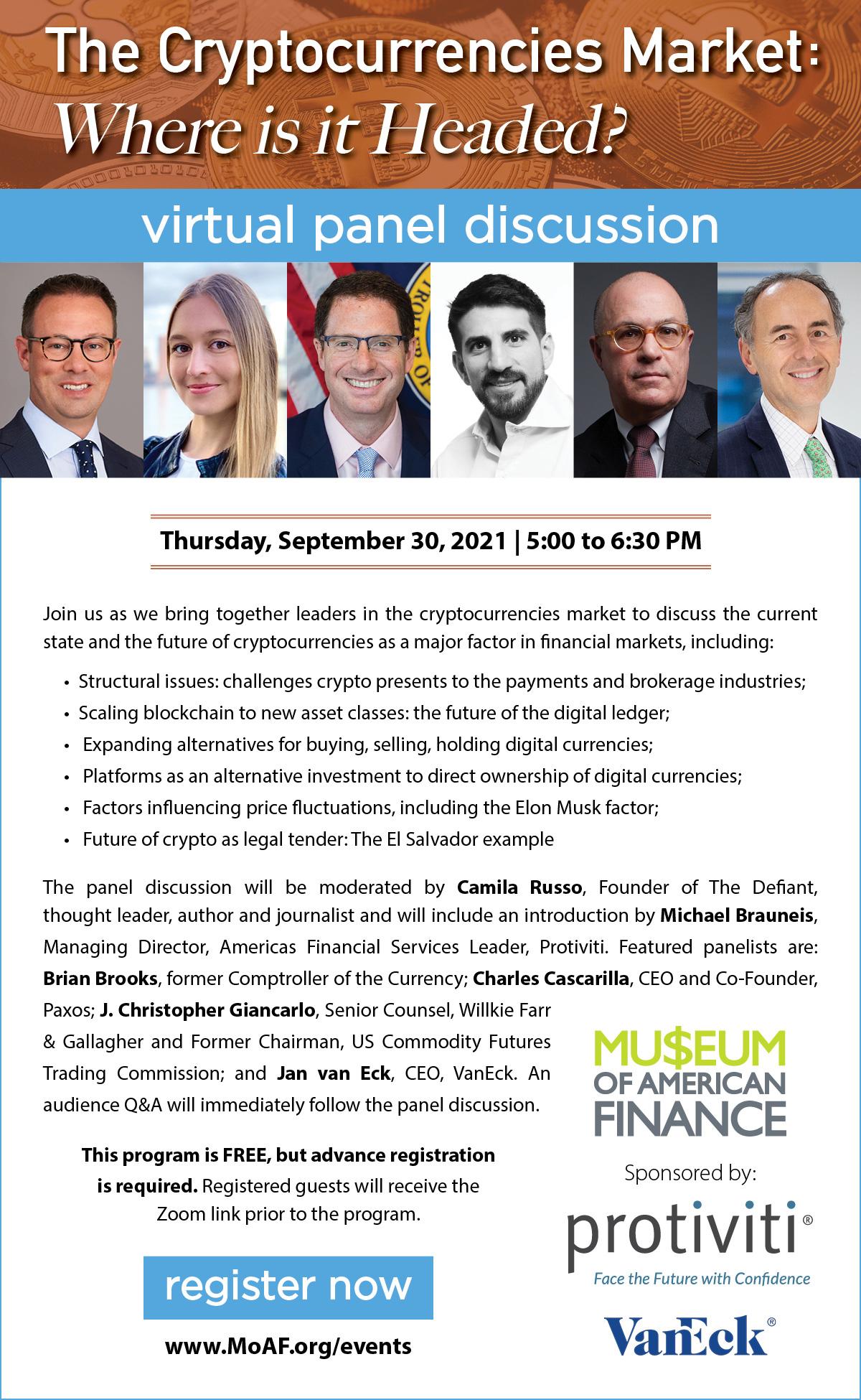Cryptocurrencies Market Panel Discussion