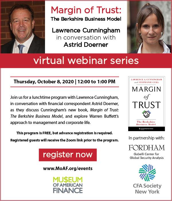 Larry Cunningham and Astrid Doerner on Margin of Trust