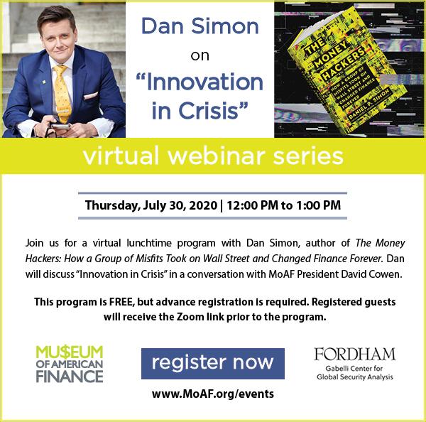 Dan Simon on Innovation in Crisis