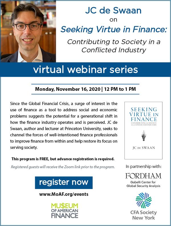 JC de Swaan on Seeking Virtue in Finance
