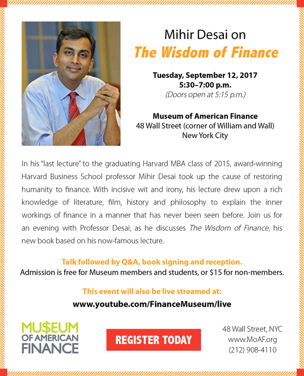 Mihir Desai on the Wisdom of Finance