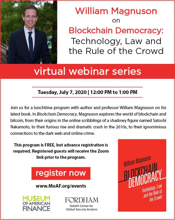 William Magnuson on Blockchain Democracy