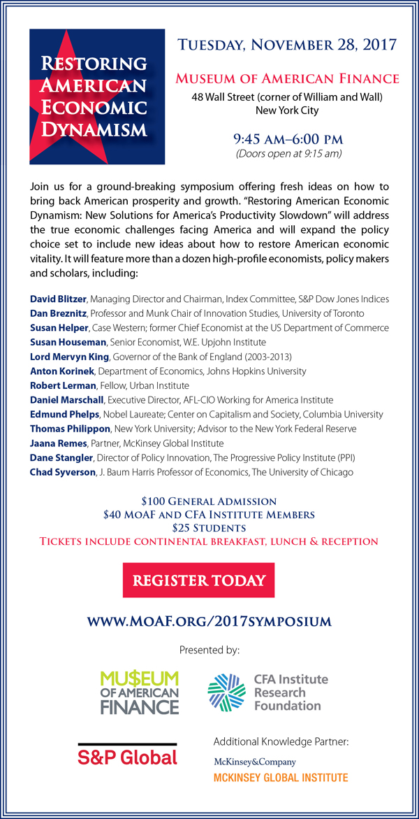 Restoring American Economic Dynamism Symposium