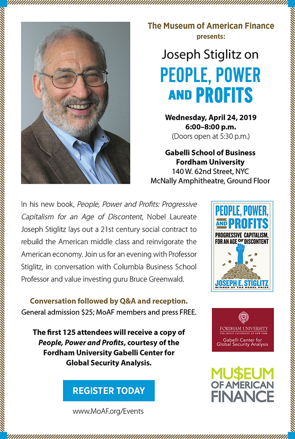 Joseph Stiglitz on People, Power and Profits