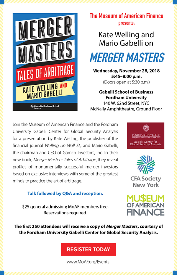 Welling and Gabelli on Merger Masters