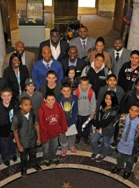 NFL Players Participate in Museum Education Program