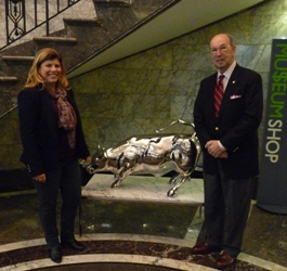 "Museum Premieres ""Charging Bull"" Documentary and Displays Replica Sculpture"