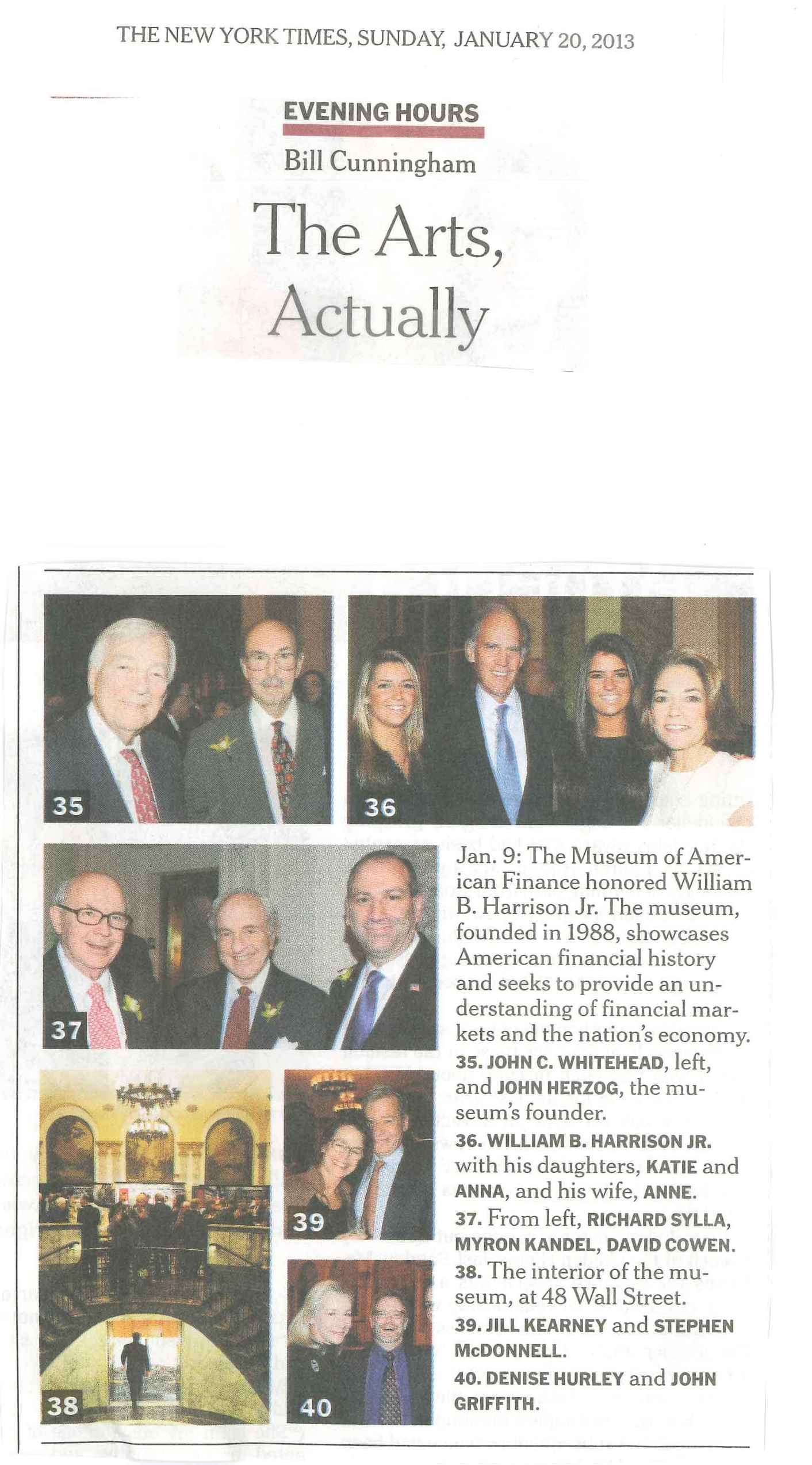 MoAF Gala Featured in NYT Sunday Style