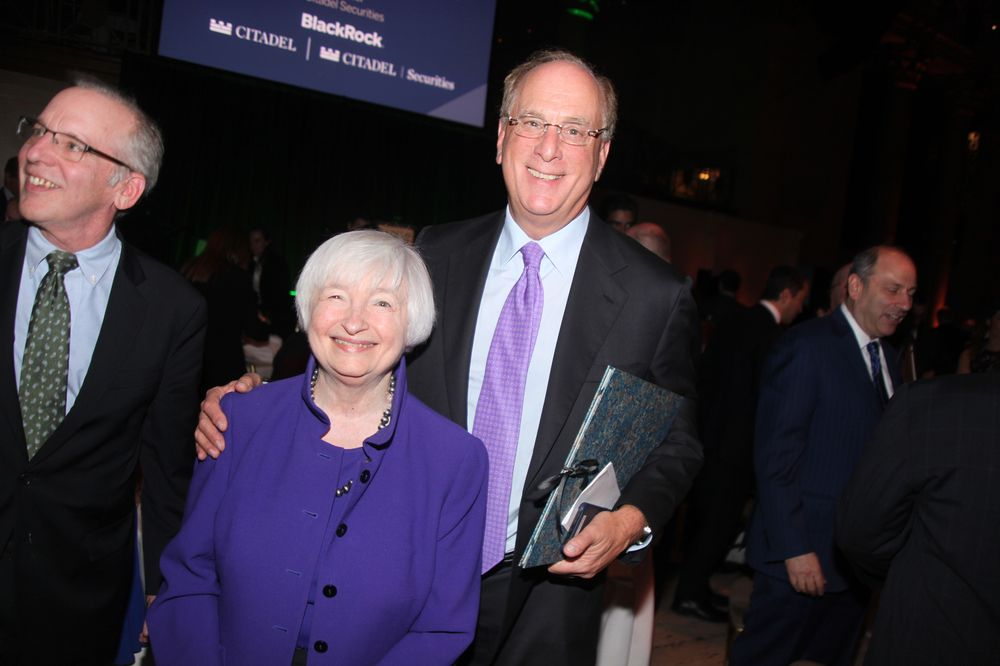 Larry Fink Talks Super Bowl, Janet Yellen at Finance Museum Fete