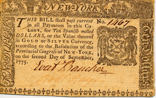 Colonial Ny Currency Museum Of