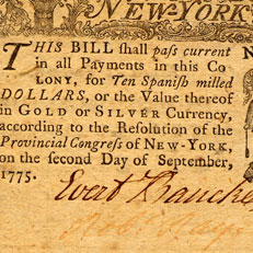 Colonial NY Currency